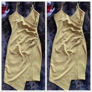 PrettyLittleThing mustard yellow dress